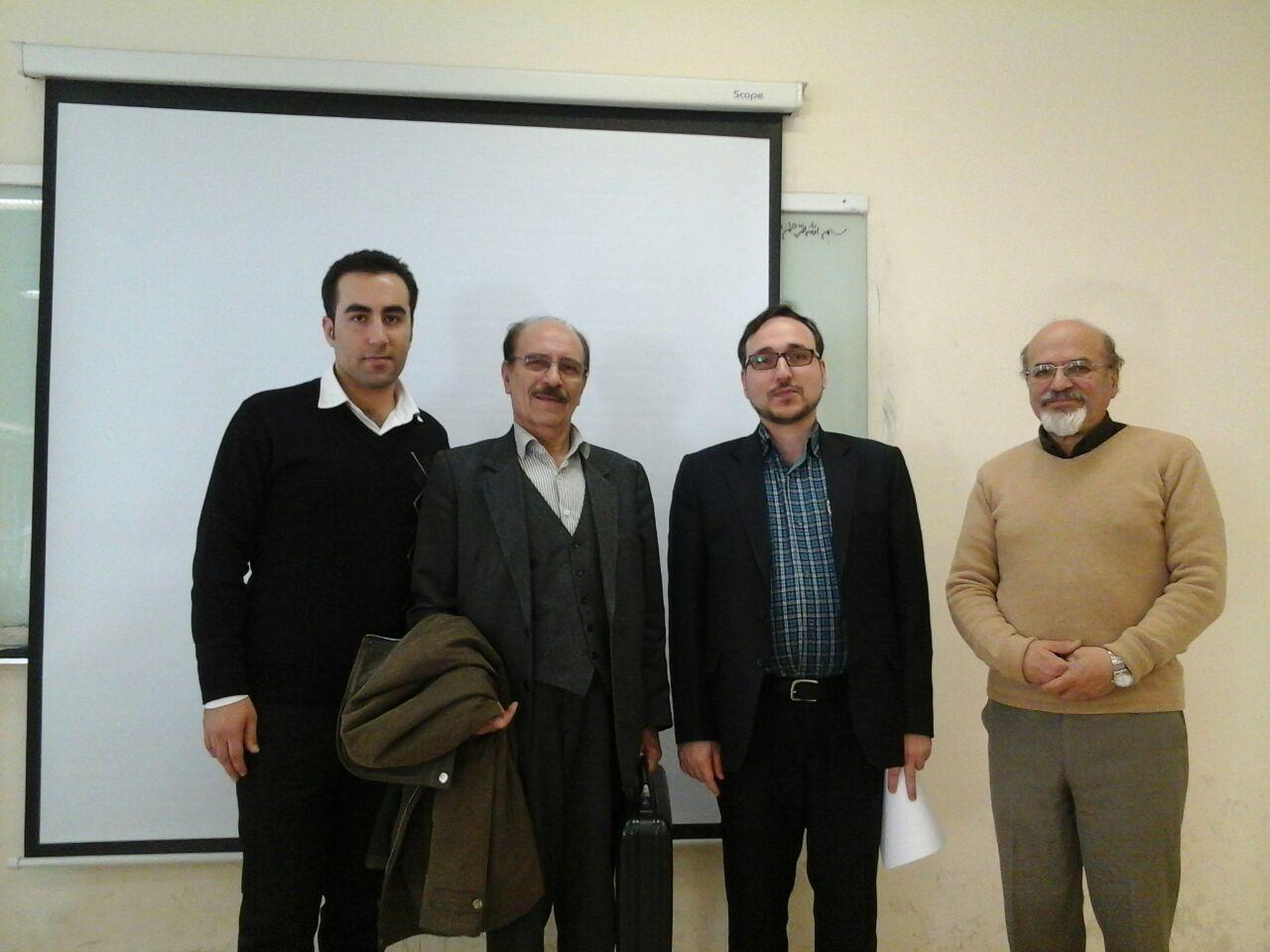 جلسه دفاع از پایان نامه کارشناسی ارشد آقای ناصری