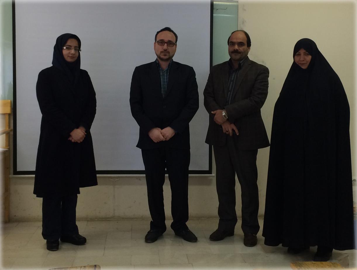 جلسه دفاع از پایان نامه کارشناسی ارشد خانم دولتشا