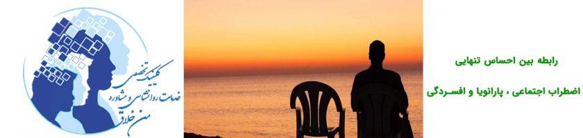 رابطه بین احساس تنهایی ، اضطراب اجتماعی ، پارانویا و افسردگی